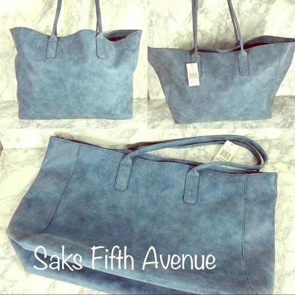 Saks Fifth Avenue Handbags - 2/$40 New Saks Fifth Avenue Large Suede Tote